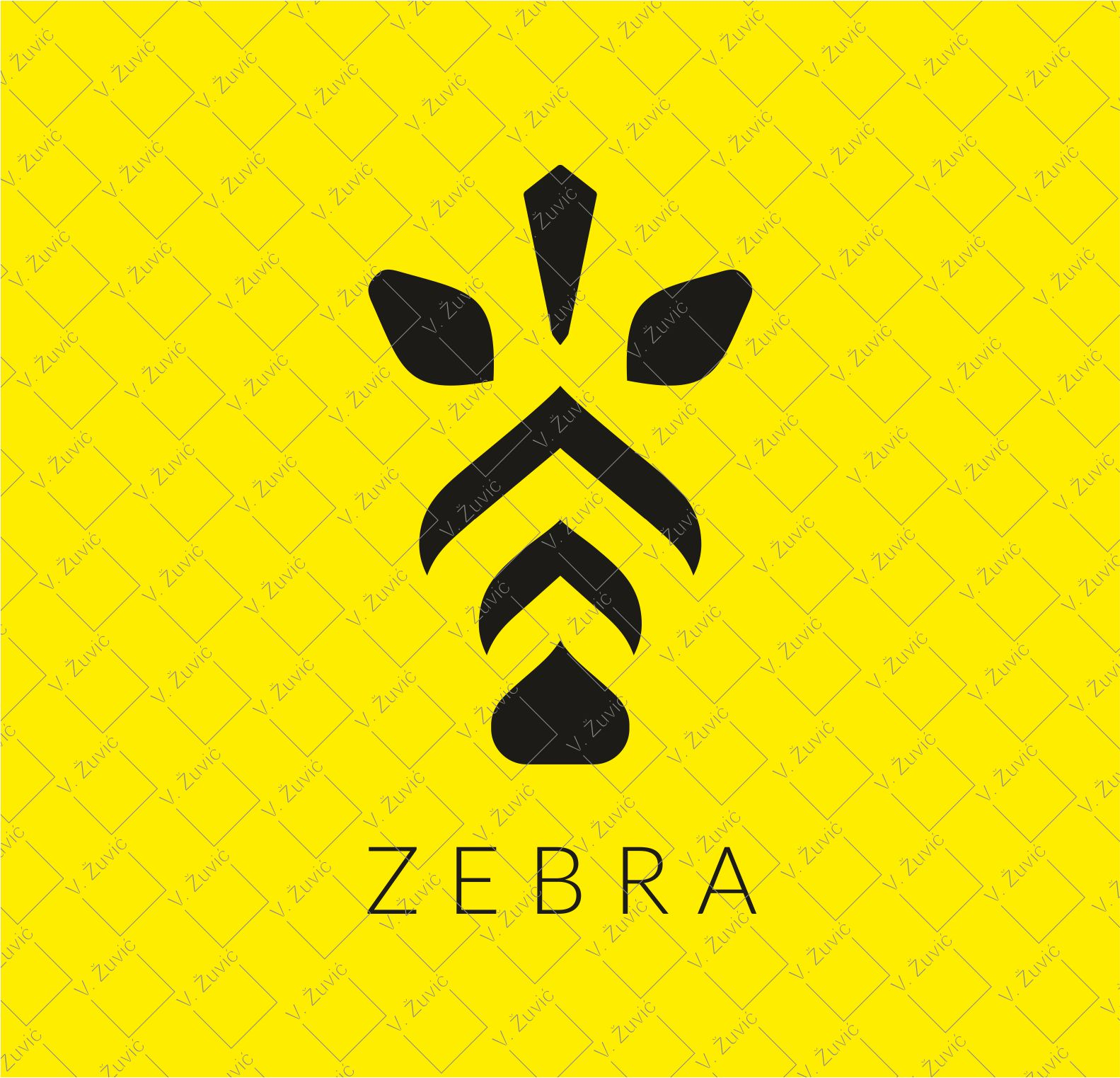 Logo is available for sale. Zebra simple logo design.   Logotip je dostupan za prodaju. Dizajn logotipa - stilizirana zebra.