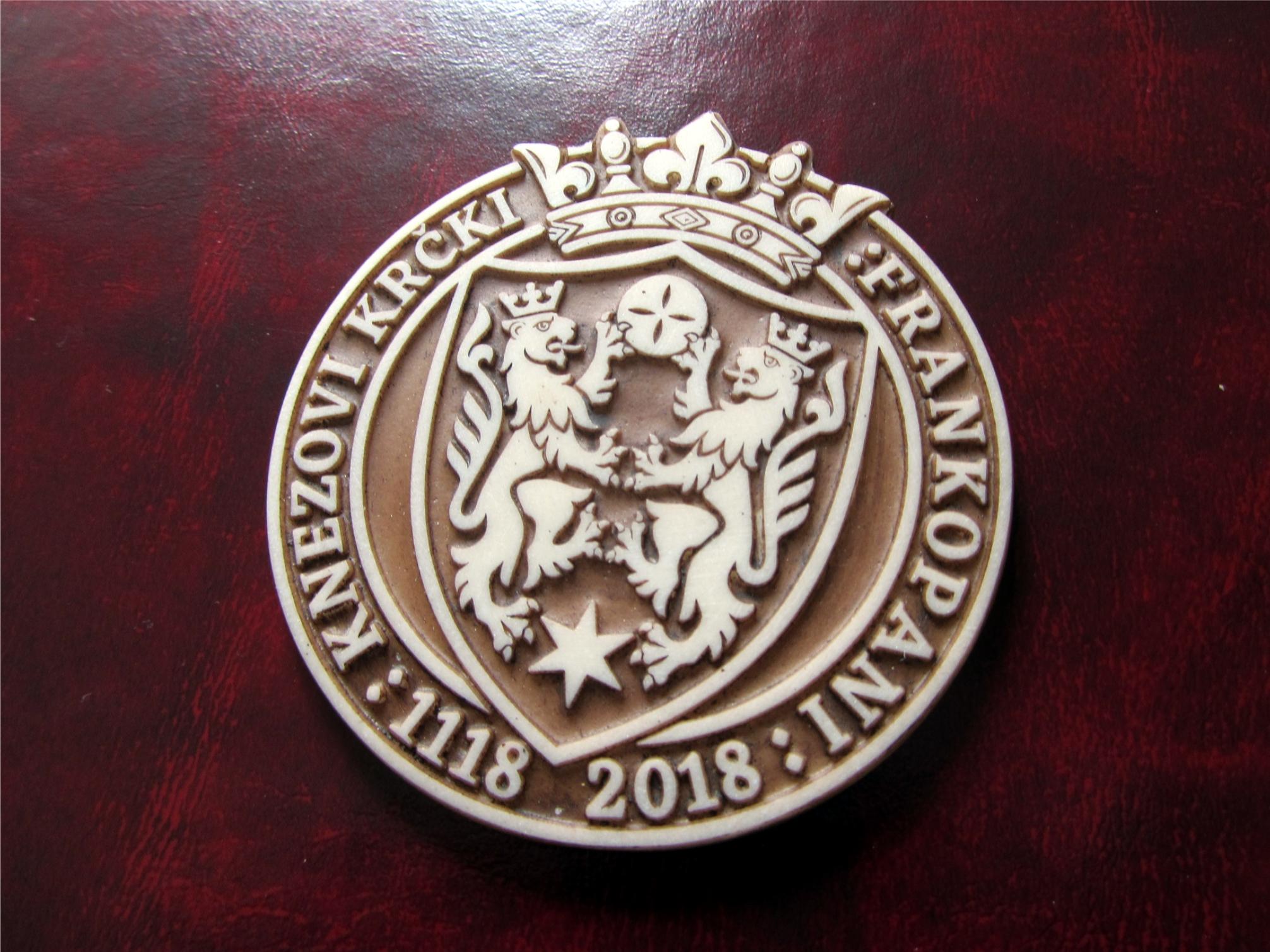 Logo design and production of souvenir magnet for the 900 years of Frankopan family universary.   Logo dizajn i izrada magneta - suvenira povodom obljetnice 900 godina Frankopana.