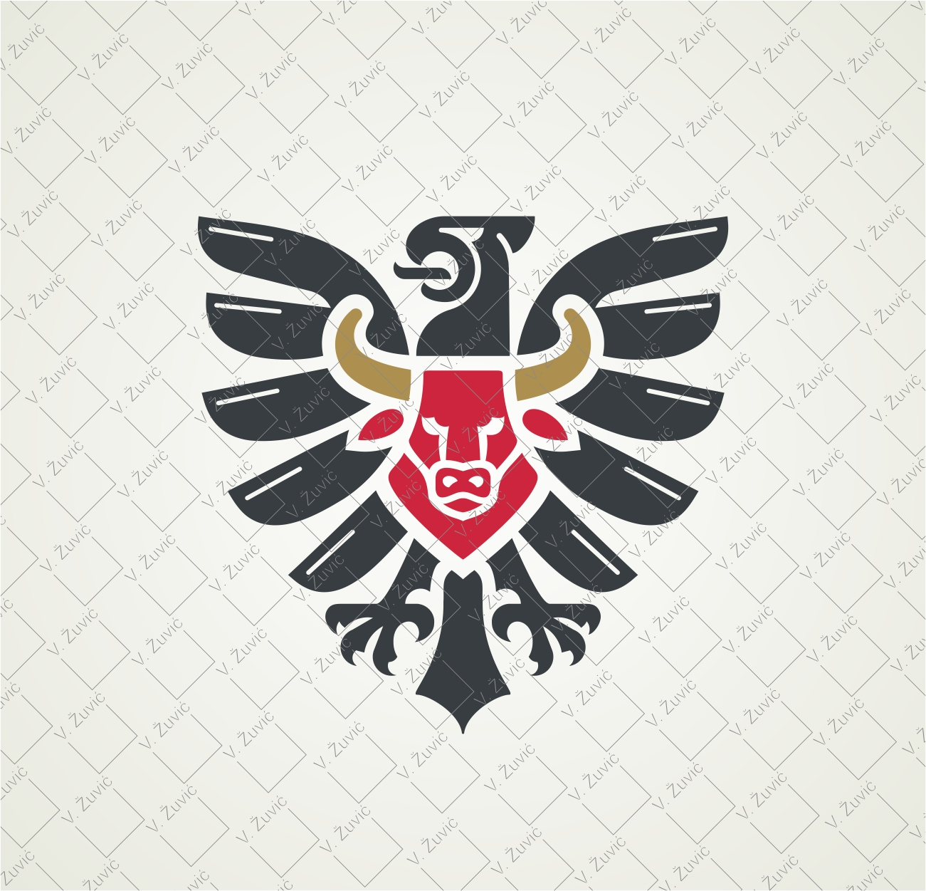 Logo is sold to the client. Eagle and bull logo design.   Logotip je dostupan za prodaju. Dizajn logotipa - bik i orao.