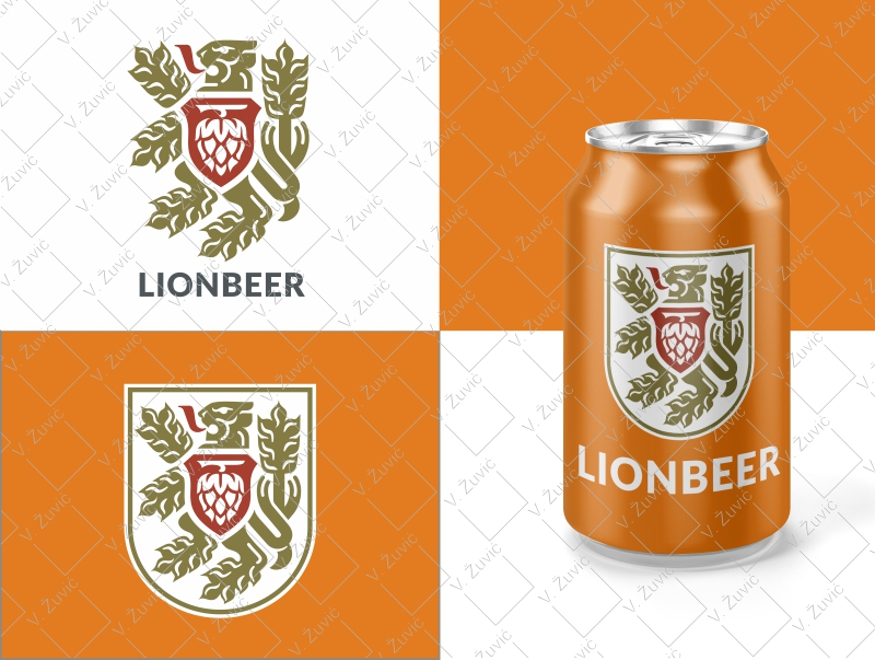 Brewery / beer lion logo. Logo is available for sale.   Craft pivo logotip. Logotip je dostupan za prodaju.
