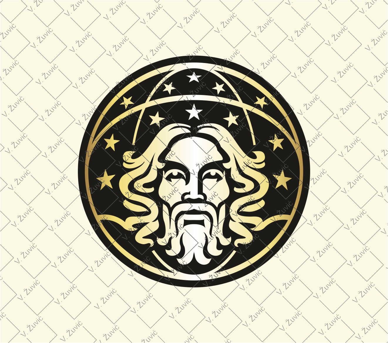Atlas logo. Logo is avaliable for sale. Atlas holding an earth with stars.   Atlas logotip je dostupan za prodaju.