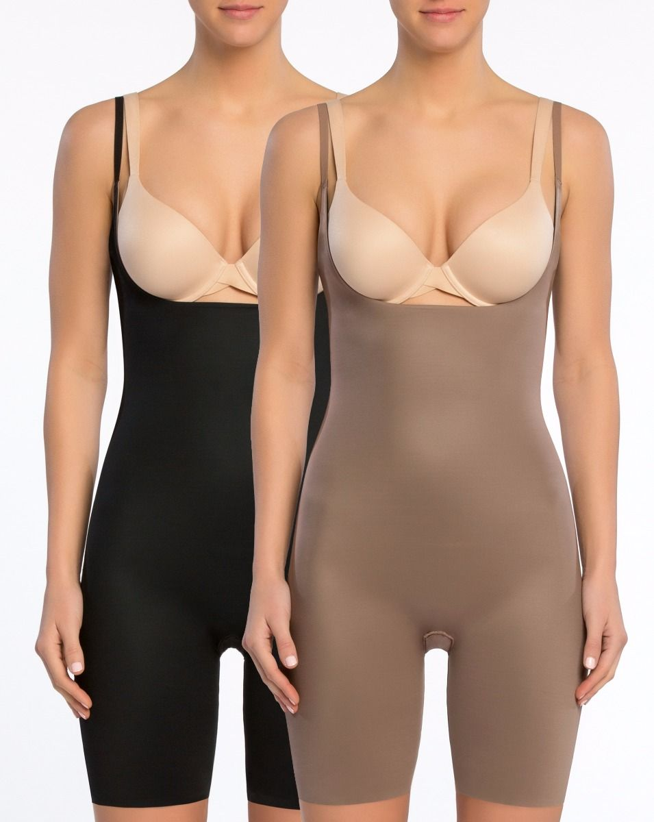 Two Timing Open Bust Body Suit