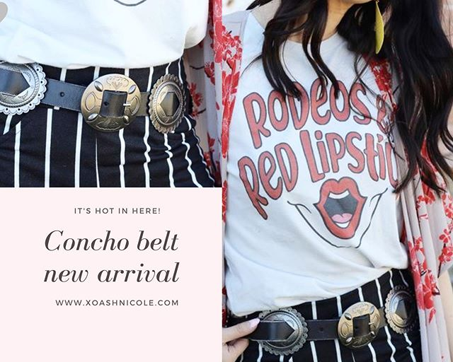 Hot new arrival . Pair with any of our tees or jewelry pieces . #conchobelt #westernfashion #boutiquefashion #boutiqueclothing #westernboutique #westernchic #westernstyle