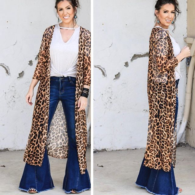 Restocked leopard duster perfect for the summer 🔥