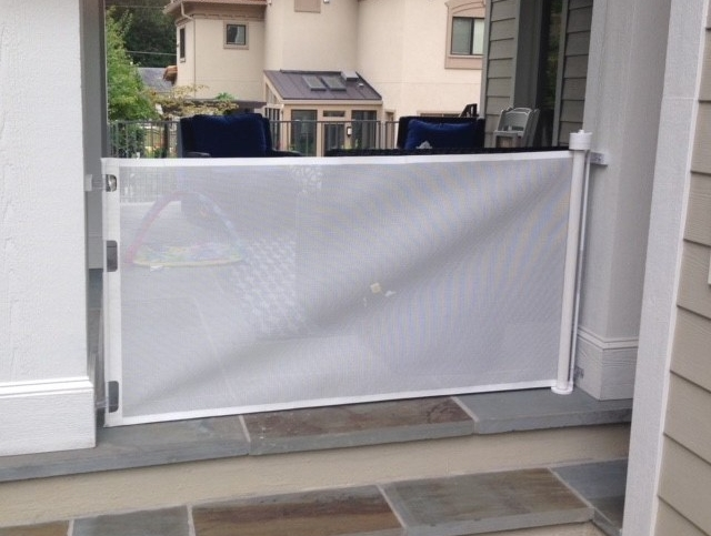 Flexible Tools for Your Home - Baby Proofing Montgomery also uses rust-proof retractable gates for outdoor use for openings less than 6' wide.