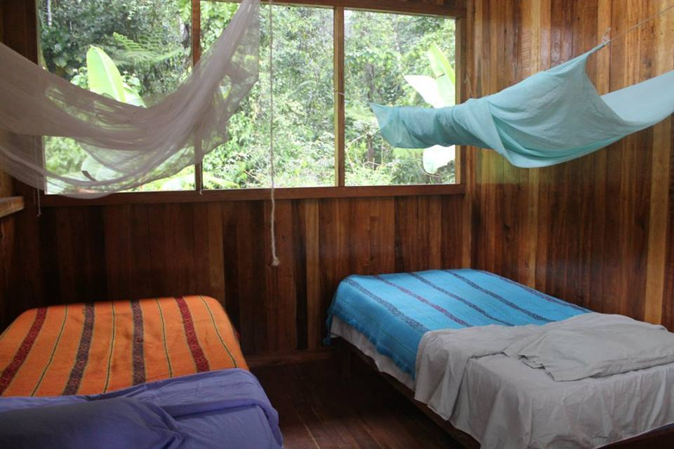 Each cabin contains two rooms with two beds. You will sleep well on our comfortable mattresses and securely under a mosquito net.