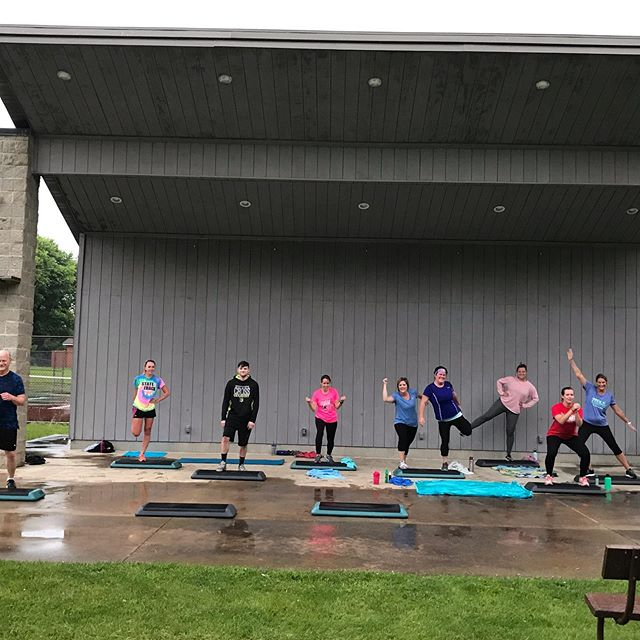 A little rain can't keep us down! Total Balance Bootcamp 2019