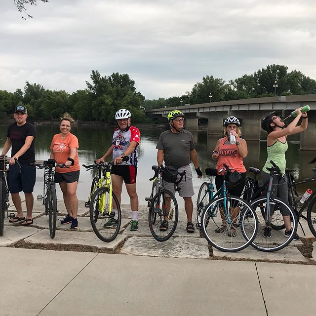 TB Bike Club first night...WooHoo. Thank you everyone that came out on a hot night to ride. It was a good night! Sorry Mackenzie I took the photo without you. 😢