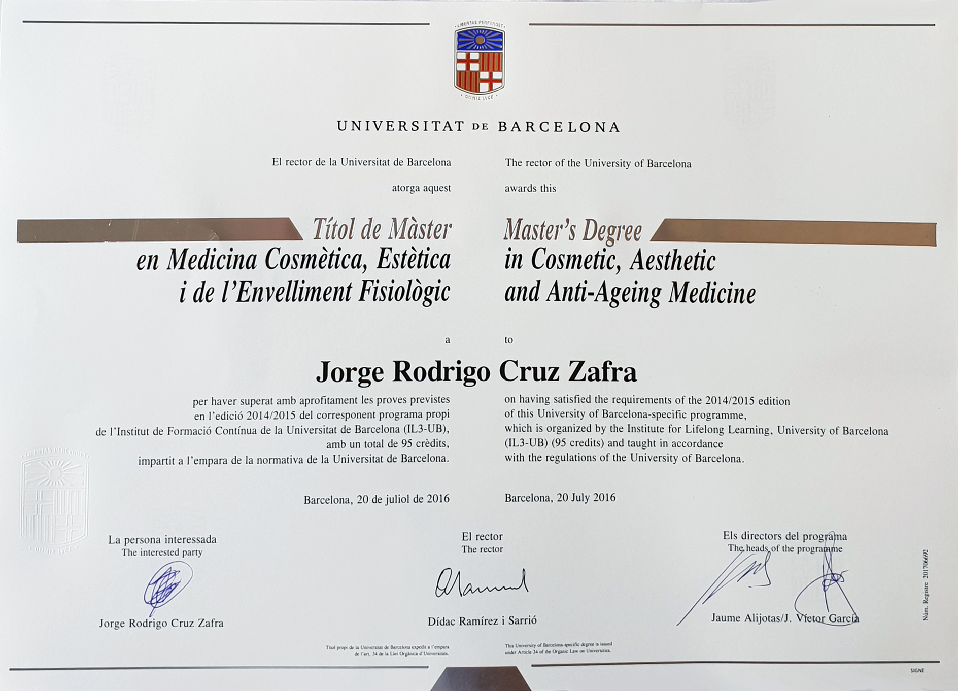 Masters Degree in Aesthetic Medicine