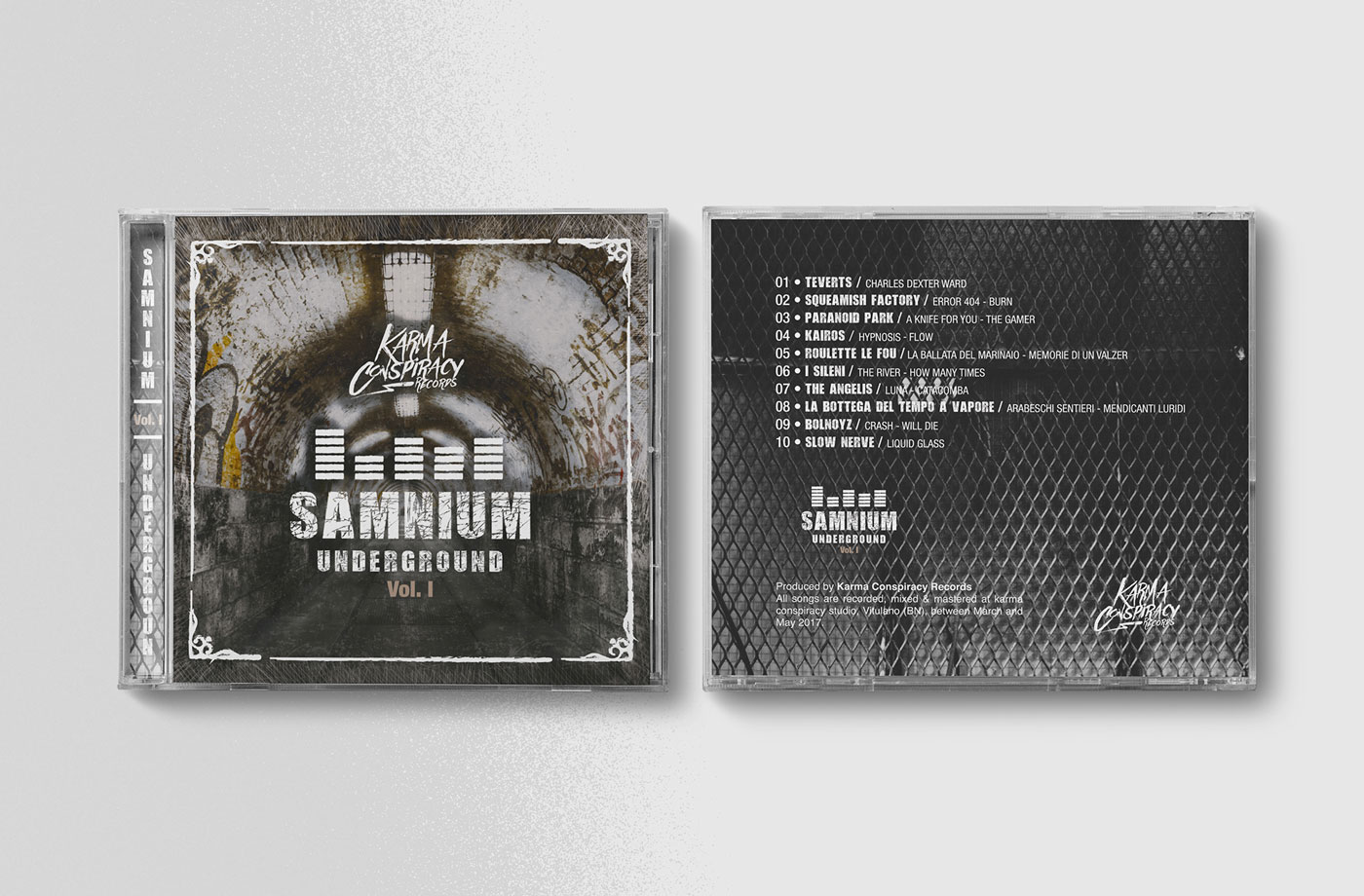 ↑ Fig. 2  Samnium Underground,   Jewel Case    visual grafico  esterno.