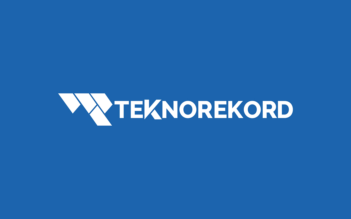 ↑  Fig.4  Marchio Prodotto. «La fusione tra il logo azienda  Tekno  e il brand prodotto  Rekord  genera il marchio  Teknorekord .