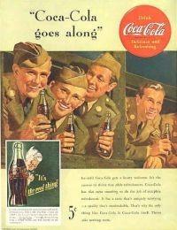 Pubblicità della Coca Cola.