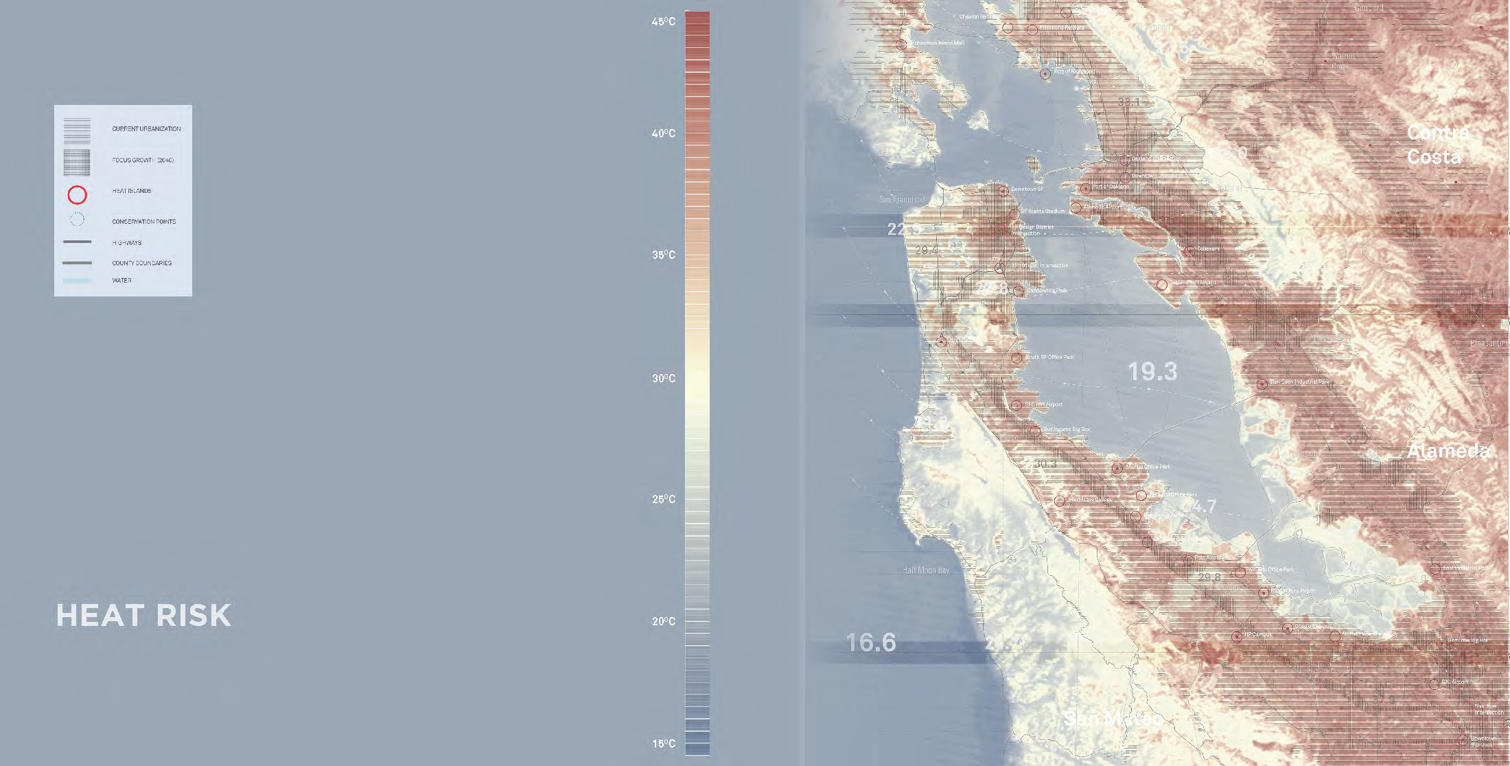 Urban heat island risk mapping of bay area - Chris Mackey, Barry Beagen
