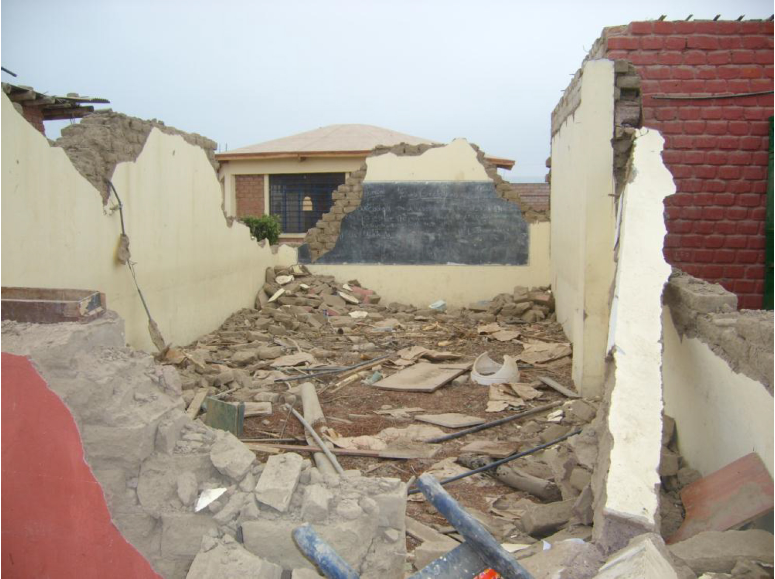 Destruction caused by 2007 Pisco Earthquake, Photo by Juan Carlos Lam