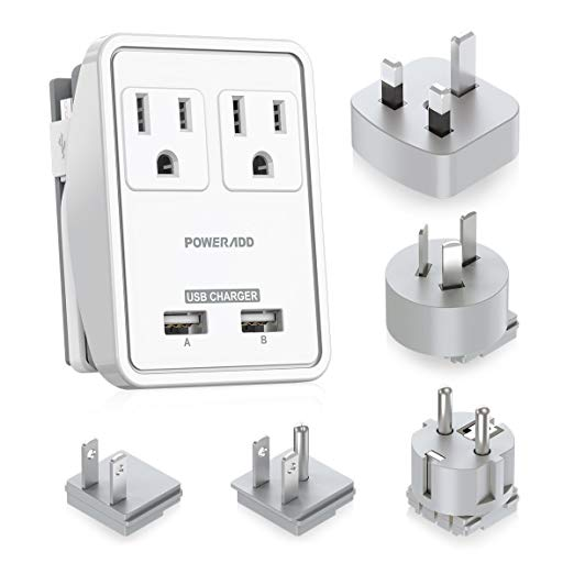 5. Power Adapter - Poweradd Travel Power Adapter Kit