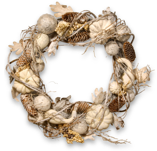 Pumpkin and Pinecone Wreath
