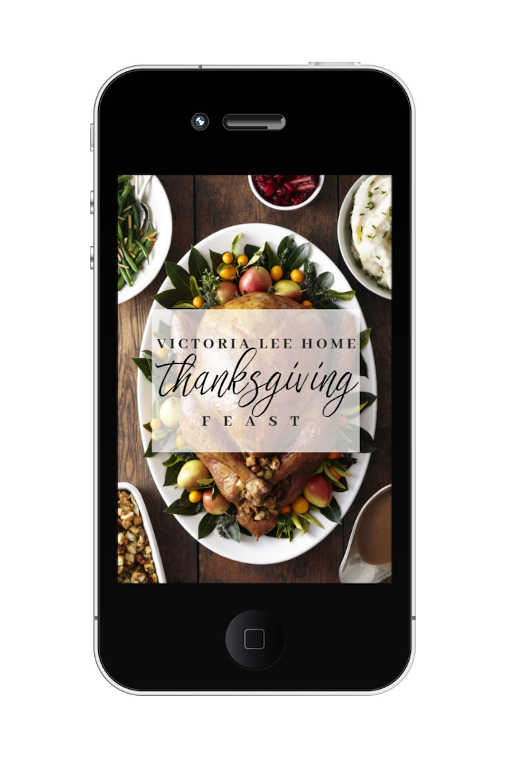 Grab your FREE download of Victoria Lee Home Thanksgiving Feast! - Get SIX of my favorite holiday recipes! Just submit the form below and the eBook will be delivered to you!