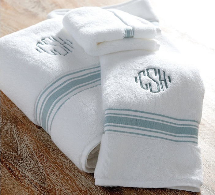Amelie Bath Towels.  Monogrammed