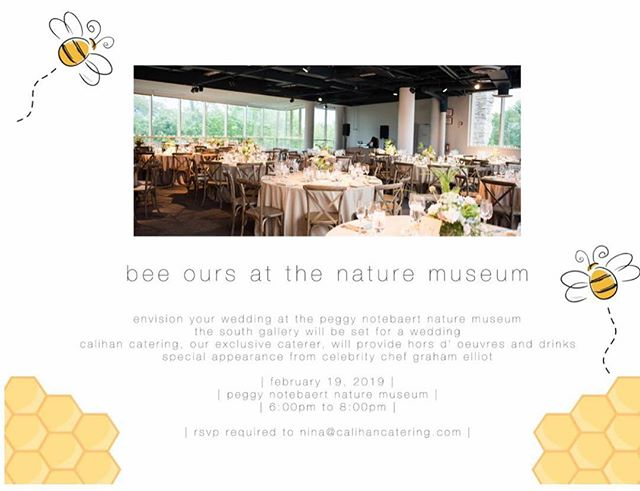 Have we got some fun in store!!! Graham Elliot will be making a special guest appearance at our open house next month!  Dreaming of a summer or fall wedding?  So are we!  Mark your calendar for this special night and Bee Ours 🐝❤️