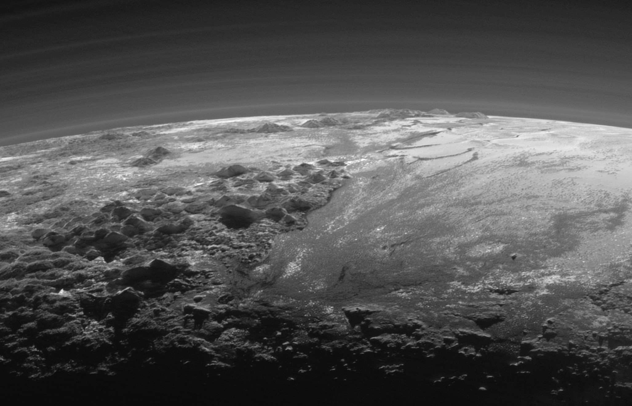 Gorgeous new Pluto image taken by the NASA New Horizons spacecraft.