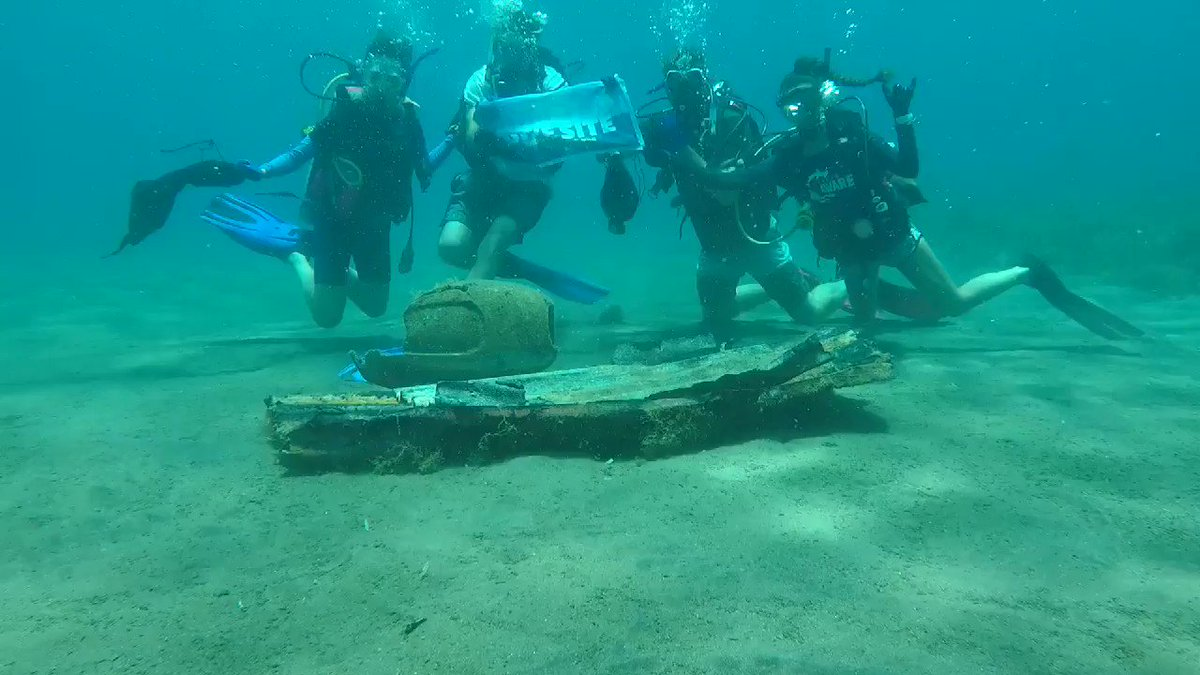 divers & debris at one of our adopted dive sites