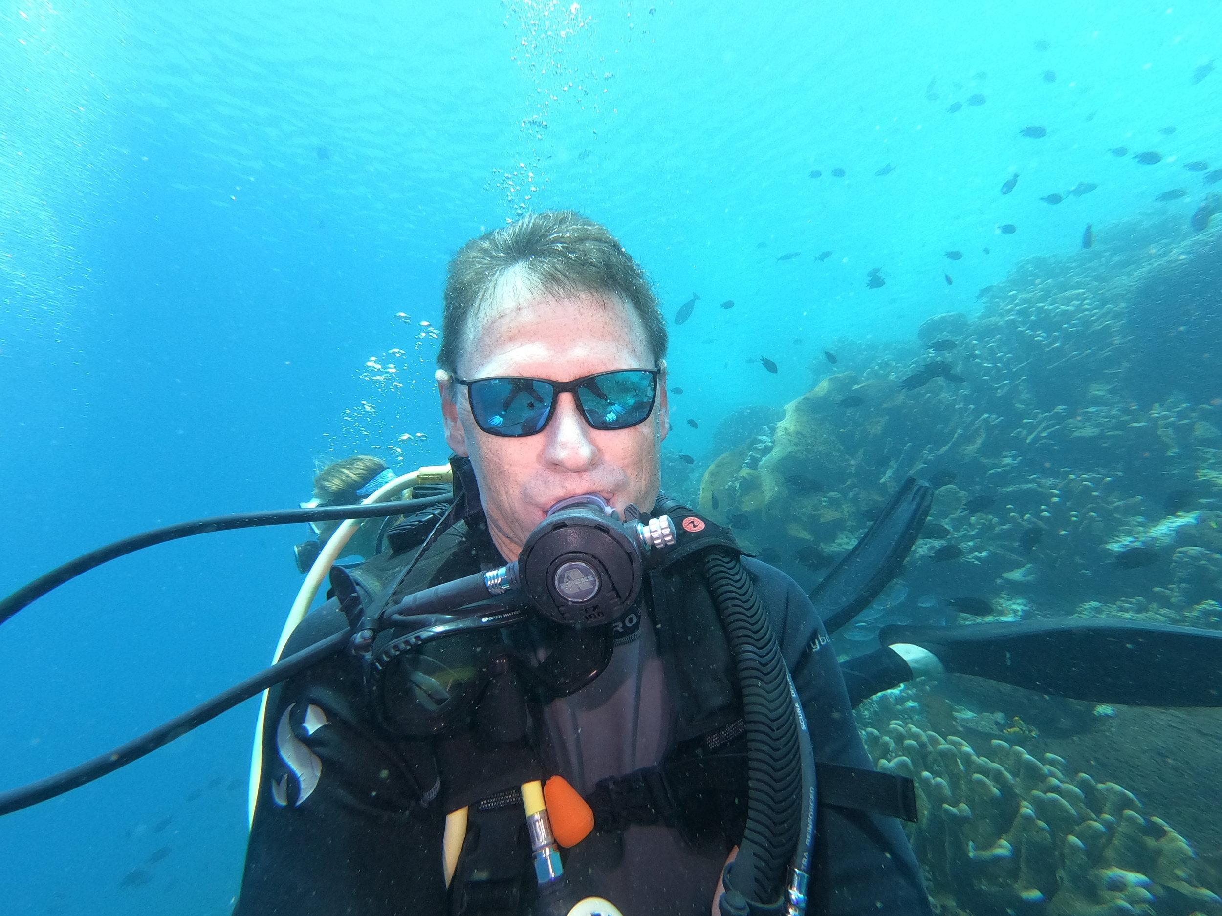 this is obviously not me - showing off no mask breathing on a casual fun dive