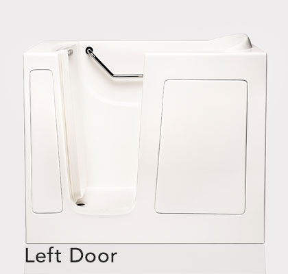 """Dimensions (L/W/H):  51.5"""" x 30"""" x 40""""   Tub Extension Panel:  8.5"""" extension panel included (to fit a 60"""" space)   Seat Height:  17""""  Seat Dimensions (L/W/H):  13.5"""" x 23"""" x 17""""   Water Fill:  65 gallons *Right Door Available"""