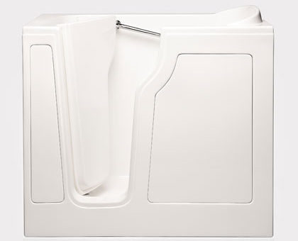 """Dimensions (L/W/H) : 48"""" x 29"""" x 40""""   Tub Extension Panel:  12"""" extension panel included (to fit a 60"""" space)   Seat Height:  17""""  Seat Dimensions (L/W/H):  12"""" x 22.75"""" x 17""""   Water Fill:  65 gallons  *Right Door Available"""