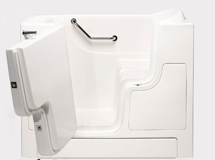 """Dimensions (L/W/H):  52"""" x 30"""" x 40""""   Tub Extension Panel:  7"""" extension panel included (to fit a 60"""" space)   Seat Height:  17""""  Seat Dimensions (L/W/H):  15.5"""" x 24"""" x 17""""   Water Fill:  70 gallons  Door Opens:   OUTWARD *Right Door Available."""
