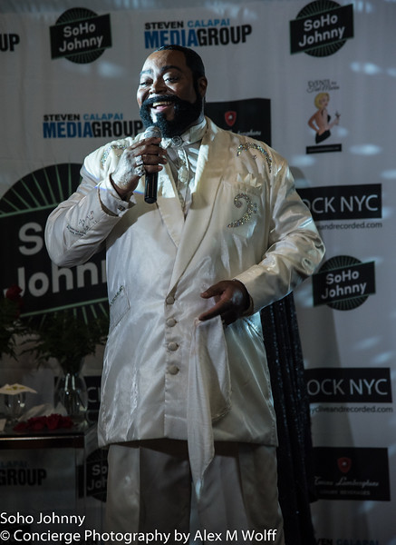 Jourdan Caroull as Barry White! In the Grand Ballroom Evening Event