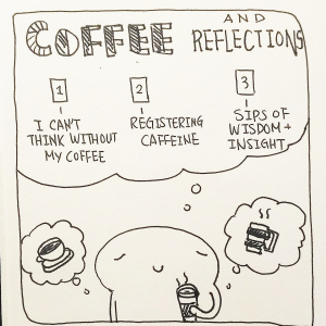 The Coffee and Reflections Spread - Pitch by Desiree Bonilla1-I can't think without my coffee: How can I jumpstart my reflections? What is something in need of my attention?2- Registering Caffeine: How will these thoughts/reflections help me?3-Sips of Wisdom and Insight: What can I learn?