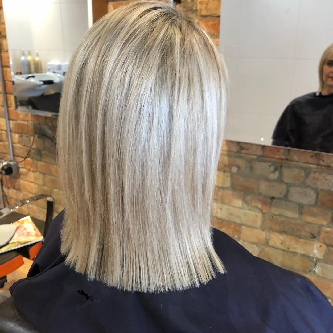 Fine weave Hi lights using L'oreal studio blonde with a mix of biscuit coloured lowlights -