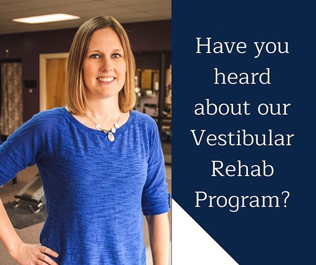 Vestibular Rehab Therapy is a hands-on and exercise-based treatment approach that targets DIZZINESS, VERTIGO, AND BALANCE PROBLEMS.  Our Vestibular Rehab Program can help individuals who battle these symptoms return to their daily activities, reduce fall risk, and improve their quality of life.  Misty Sowder PT, DPT, one of our physical therapists here at SPT, specializes in Vestibular Rehab Therapy. Call us today at 502-633-2443 for more information. Let us help you get back to doing the things you love!