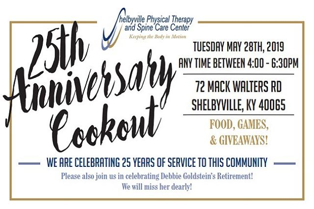 We are so thankful for the support that our community and hometown has given us over the past 25 years! Looking forward to 25+ more!  Please join us on Tuesday, May 28th for a community appreciation cookout! We couldn't have done it without you!