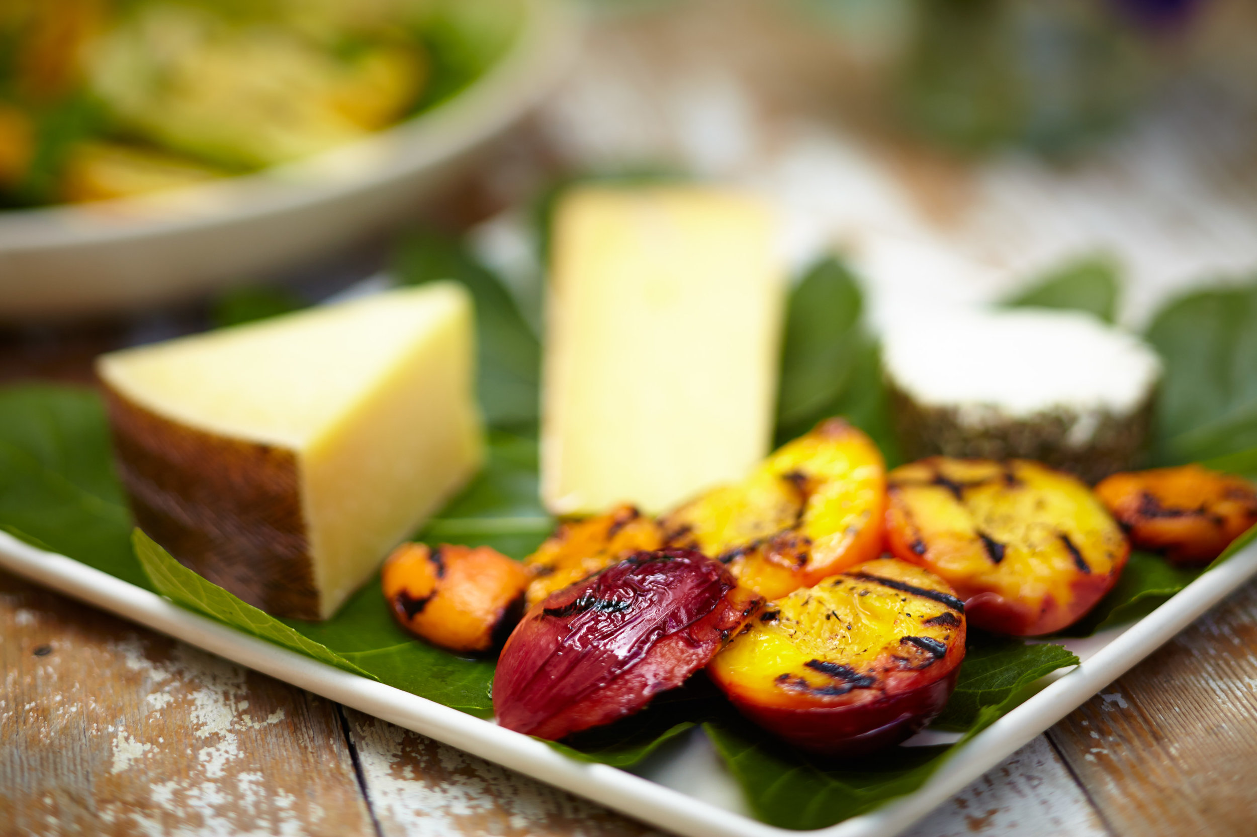 Manchego and Grilled Nectarine Summer Cheese Plate