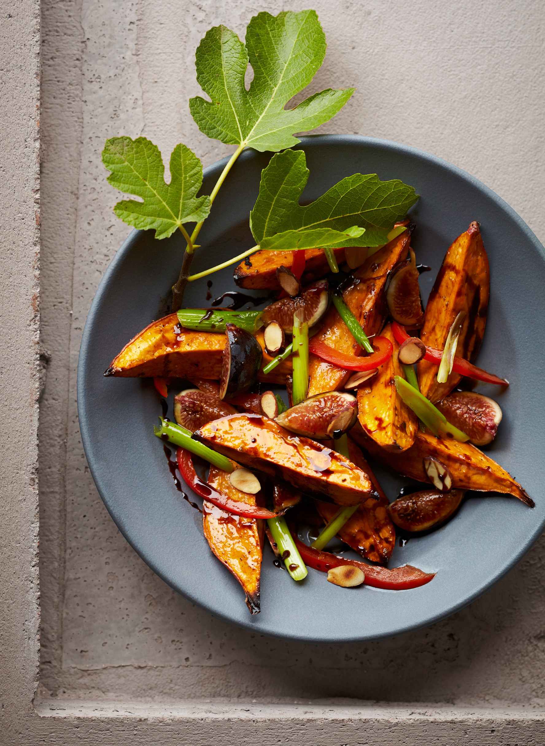 Grilled Sweet Potato and Fall Fig Salad