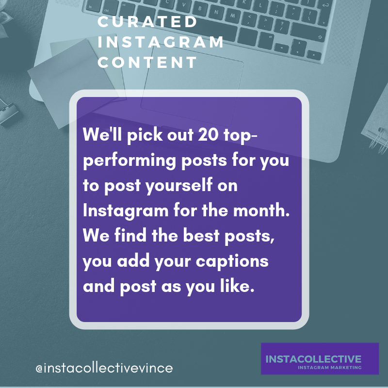 Curated Instagram content