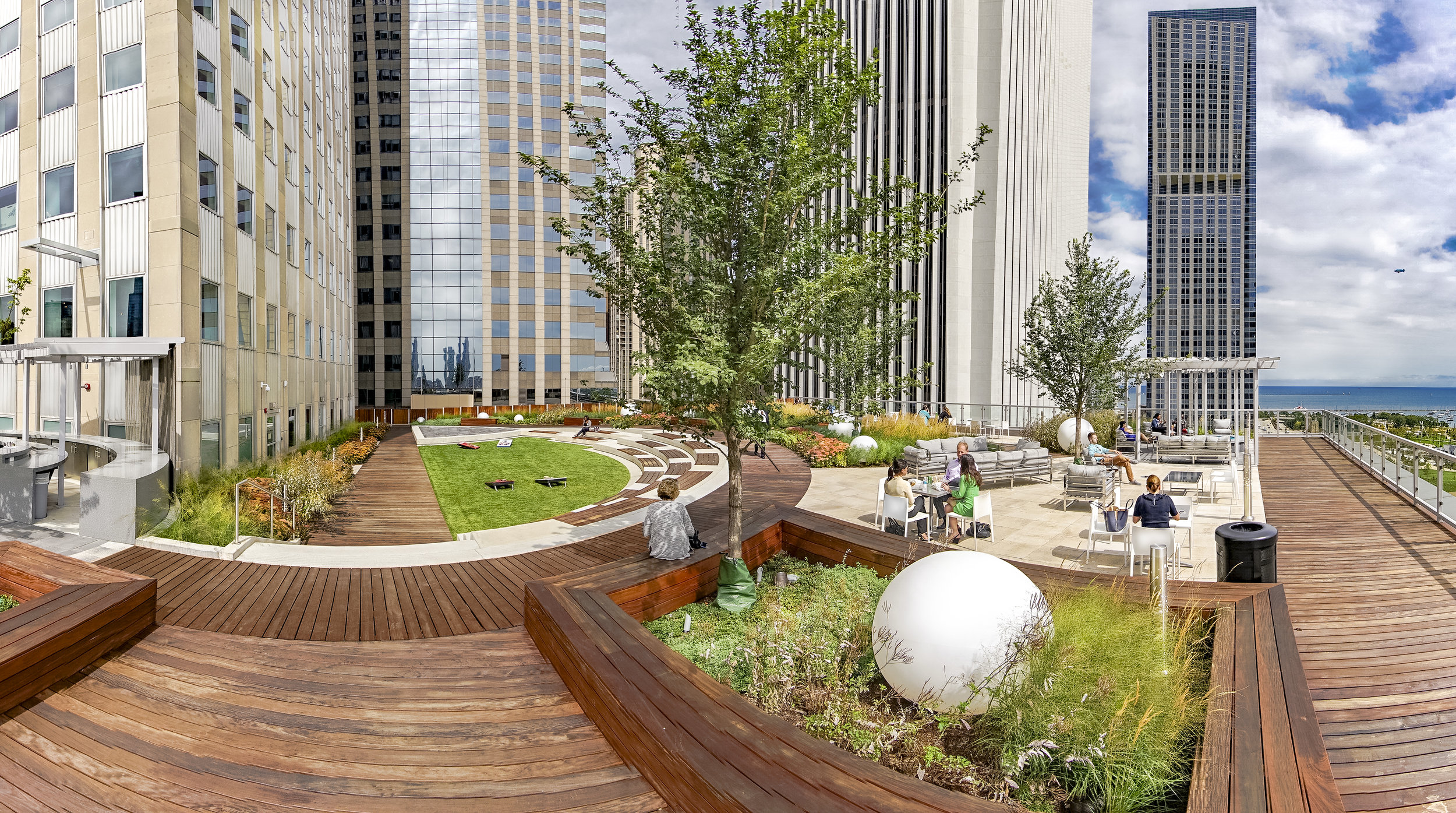 Commercial Construction - Comprehensive services include landscape design and construction to year-round maintenance. Our dedicated and qualified team will partner with your architect or general contractor to exceed your expectations. Our award-winning installations include: Millennium Park, Art Institute of Chicago Modern Wing, Pritzker Family Children's Zoo, 500 N Lakeshore Drive, Westfield Old Orchard Mall and Back of the Yards High School.
