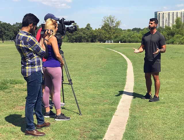 """Last Friday I had the awesome privilege of having @janeonfox7 from @fox7austin come out and interview me on what it's like being a trainer here in Austin as well as run through a simple group workout. • I was so thrilled. But it also made me so incredibly thankful that I have this amazing honor and privilege to help others grow their body, health, fitness and diet. • I was so excited to share, and reminded all the while, that this """"getting better"""" journey, whether mental, physical, or spiritual, takes time. It's not supposed to be perfect but it takes consistency. • I was able to share that training yourself to get better physically requires you to also audit other parts of yourself: spiritual and mental. Betterment is not limited to one area. Other parts of your personhood grow along side the primary thing in focus. • I discussed the biggest struggles of being a trainer, methodology, practicality and other things that I'll save for you to hear about. But while talking about OTHER PEOPLE'S betterment, I couldn't help but be reminded of what has occurred within ME. So much has changed and so much progress has been made. Being on Fox serves as such an affirmation of that! But it took, for the lack of a better phrase, my own """"personal trainers"""" to get me here. My friends and family who have stuck along this journey, this betterment journey, of mine. I wouldn't be able to celebrate my """"gains"""" or """"losses"""" had it not been for all of you. • You know who you are. I thank you from the bottom of my heart for never giving up on me—for encouraging me—for growing me. Thank you for sticking it out and continuing to do so. I will never forget it.🤟🏽♥️🦁 • Be on the lookout this Friday on FOX 7 at 7, 8, and 9am!!😱🥳🙏🏽"""