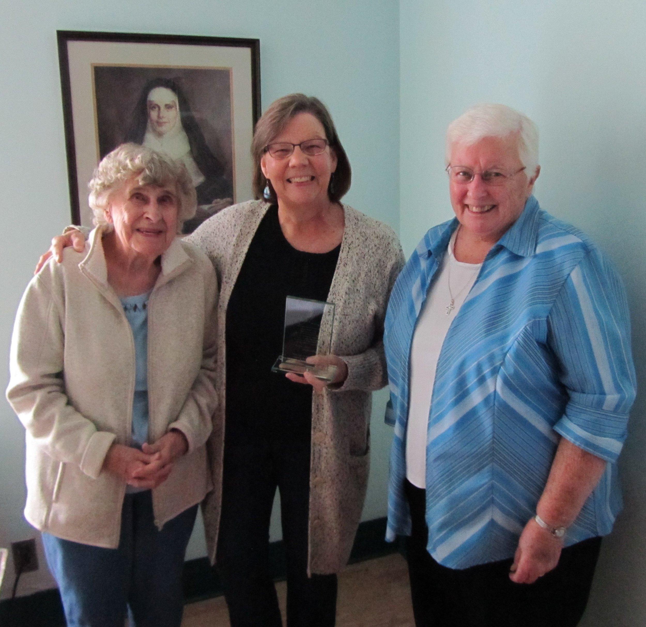 Colette Lettero Award w Cathy McDougal.Sr. Catherine 9.20.18.jpg