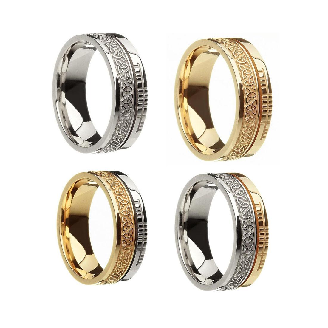 Faith Collection Trinity Knot Wedding Rings