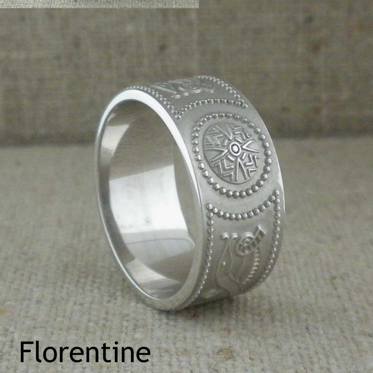 Florentine Finish on Sterling Silver