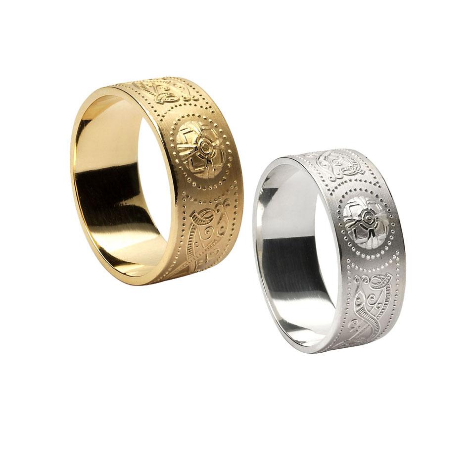 9.2 mm Celtic Warrior Shield Wedding Rings