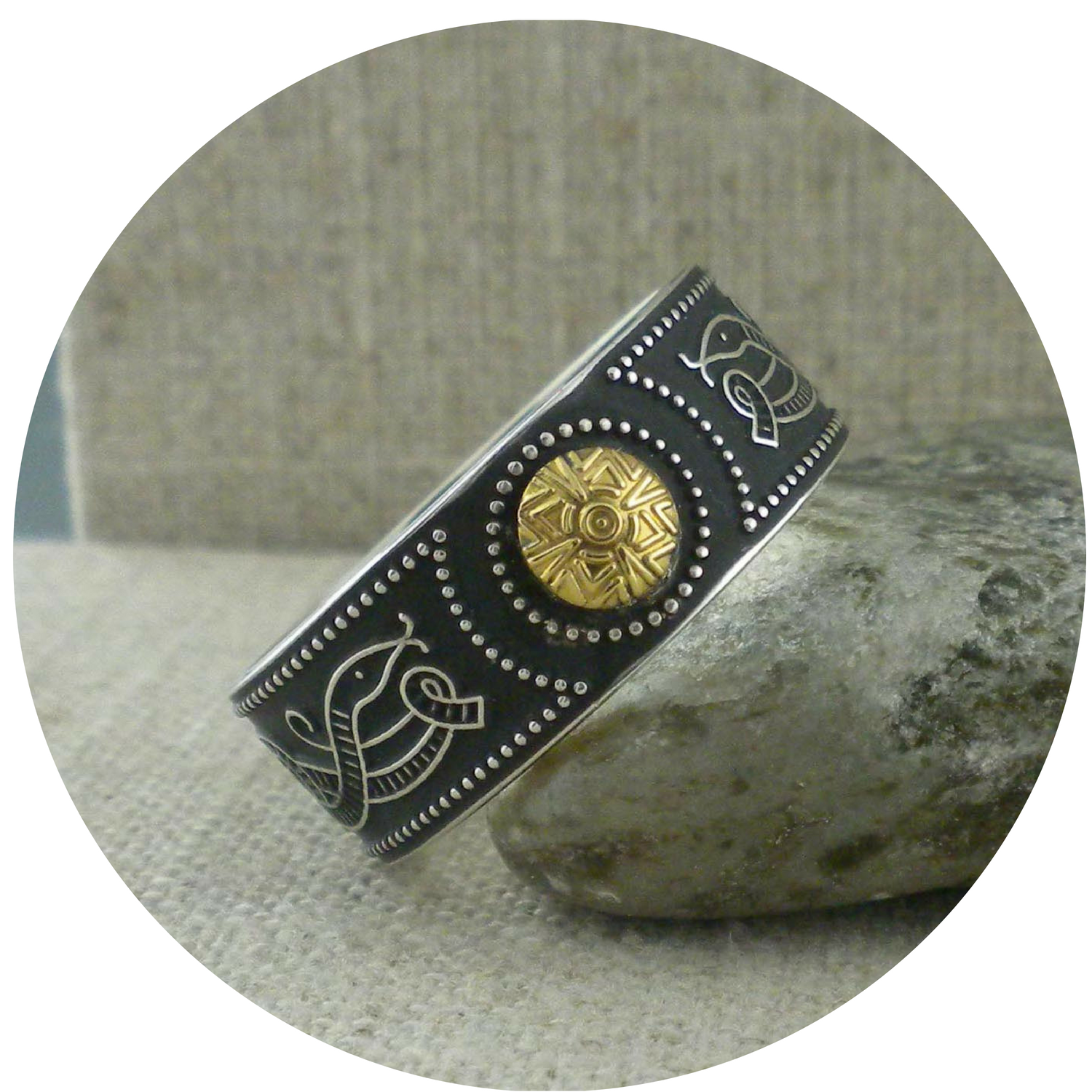 Wide Celtic Warrior Shield with Bead