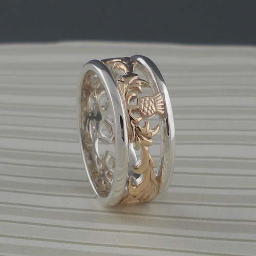 Scottish Thistle Wedding Ring