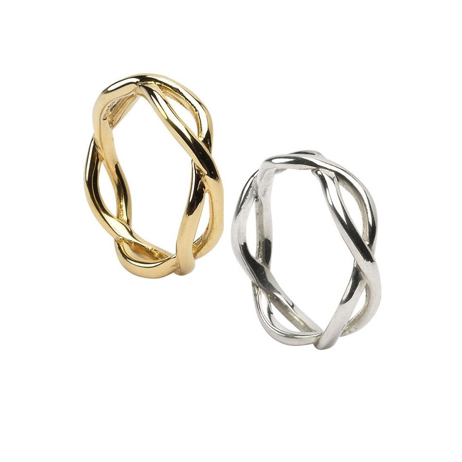 Men's Celtic Infinity Knot Wedding Rings