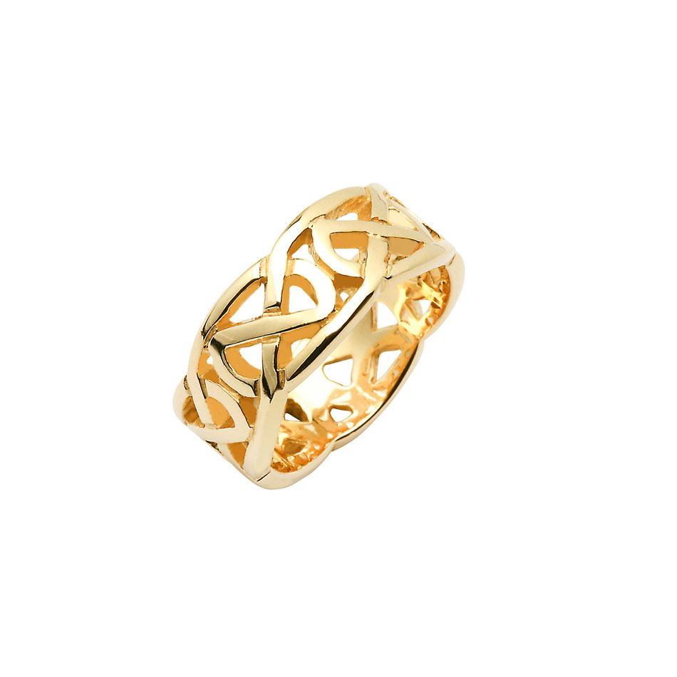 Wide Men's Celtic Knot Wedding Ring