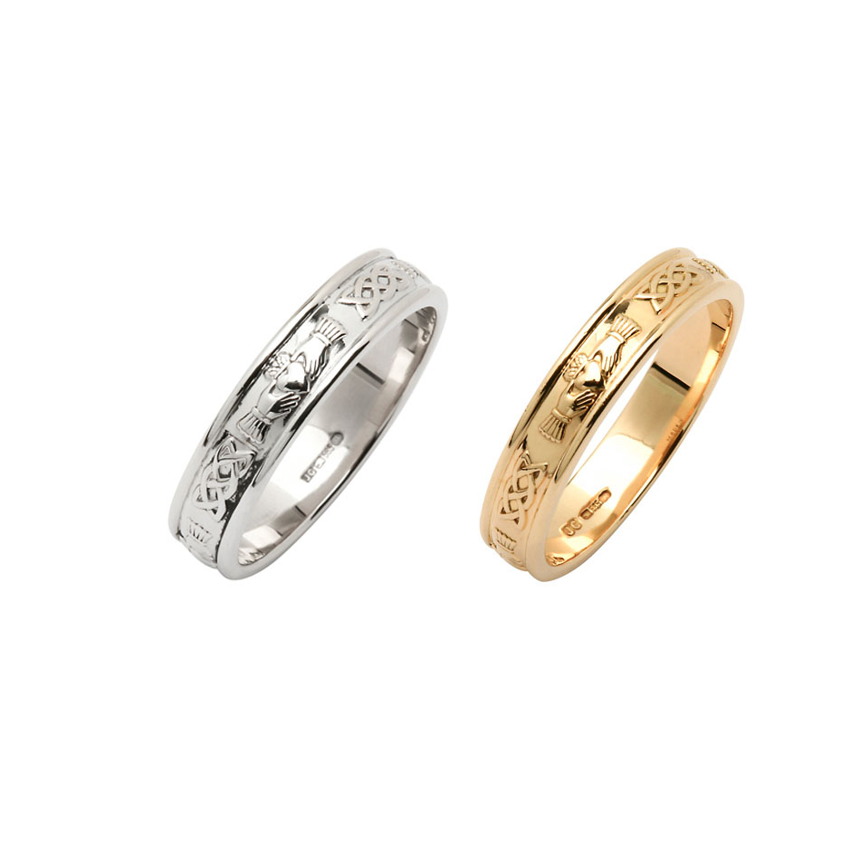 Ladies Corrib Claddagh Wedding Ring