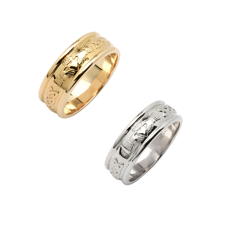 Ladies 6.5 mm Corrib Claddagh Wedding Ring