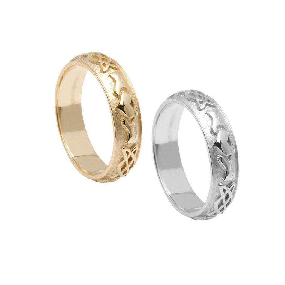 Men's Celtic Claddagh Wedding Ring